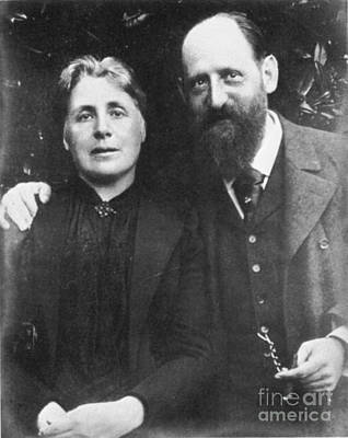 Photograph - Josef Breuer With Wife Mathilde, C1900 by Granger
