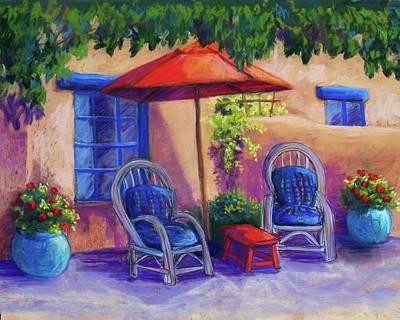 Josefina's Courtyard Art Print by Candy Mayer