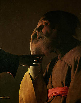 Joseph And The Angel Print by Georges de la Tour