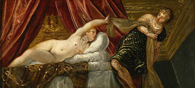 Holy Painting - Joseph And The Wife Of Potiphar by Tintoretto