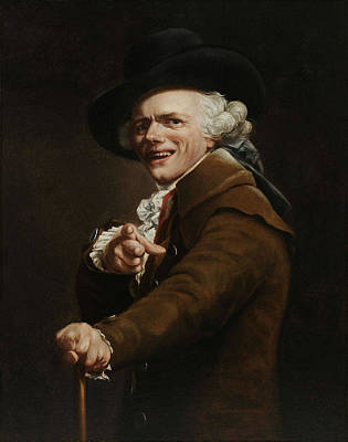 Painting - Joseph Ducreux - Guise Of A Mocker Painting  by War Is Hell Store