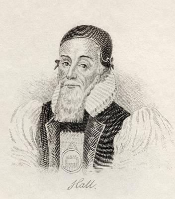 Bishop Drawing - Joseph Hall 1574   1656 English Bishop by Vintage Design Pics