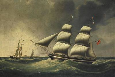 Ceramics Painting - Joseph Heard , The Merchant Brig Rimac In Two Positions Off Cape Horn, With Another Of Brocklebank's by Artistic Rifki