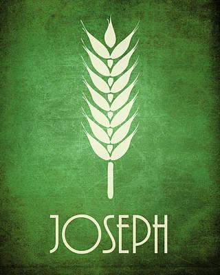 Joseph Icon Bible Minimal Art Art Print