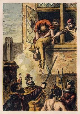 Joseph Martin Kronheim - Foxe Book Of Martyrs Plate II - Death Of Admiral De Coligny Art Print