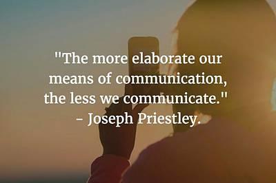 Photograph - Joseph Priestley Quote by Matt Create
