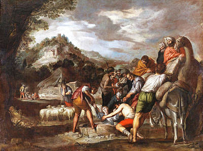 Man And His Horse Painting - Joseph Sold By His Brothers by Antonio del Castillo y Saavedra