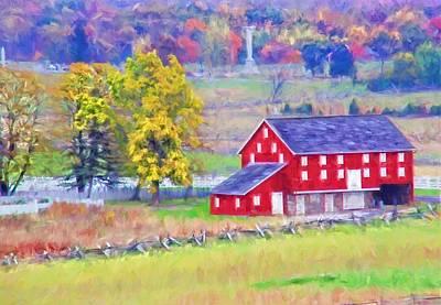 Photograph - Joseph Spangler Farm Barn Reds by Alice Gipson