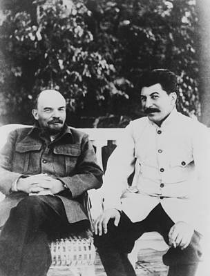 Joseph Stalin 1879-1953 And Vladimir Art Print by Everett