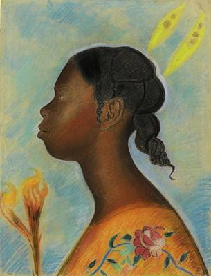 Lake Painting - Joseph Stella 1877 - 1946 Barbados Girl by Artistic Rifki