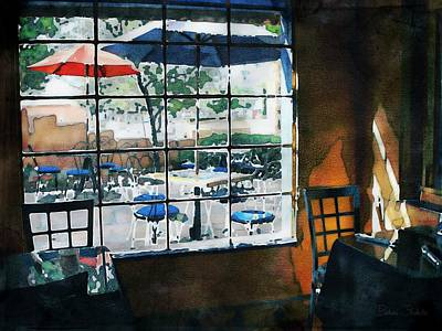 Las Cruces Painting - Josephina's Courtyard Window View by Barbara Chichester