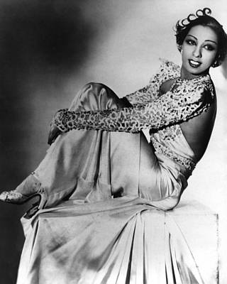 Black Pearls Photograph - Josephine Baker by American School
