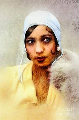 Music Paintings - Josephine Baker, Music Legend by Esoterica Art Agency