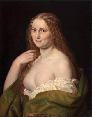 Long Mane Painting - Josephine by Josef Manes