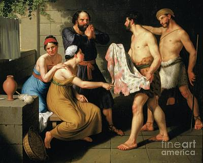 Painting - Joseph's Brothers Bring His Coat To Jacob by Celestial Images