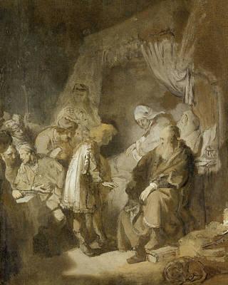 Joseph's Dreams Art Print by Rembrandt