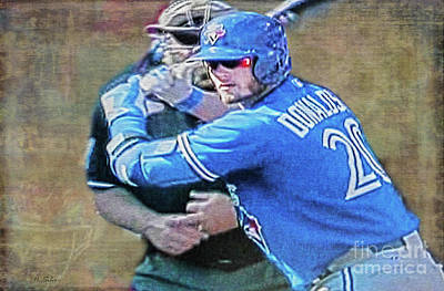 Photograph - Josh Donaldson At Bat by Nina Silver