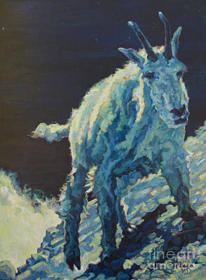 Mountain Goat Painting - Josh by Patricia A Griffin