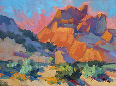 National Parks Painting - Joshua Afternoon by Diane McClary