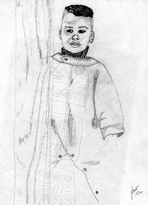 Drawing - Joshua At 18 Months by Angela L Walker