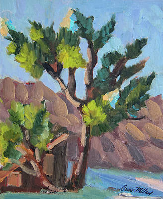 Art Print featuring the painting Joshua At Keys Ranch by Diane McClary