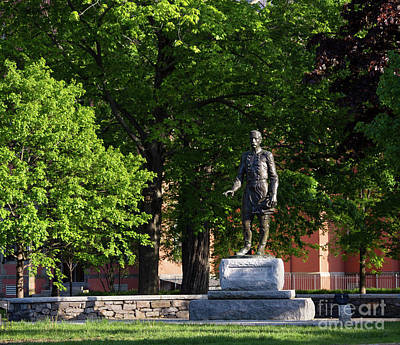 Photograph - Joshua Lawrence Chamberlain Statue, Brunswick, Maine #0013 by John Bald