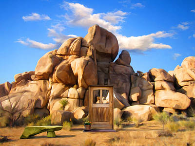 Mountains Painting - Joshua Tree Boulders by Snake Jagger