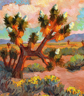 National Park Painting - Joshua Tree by Diane McClary