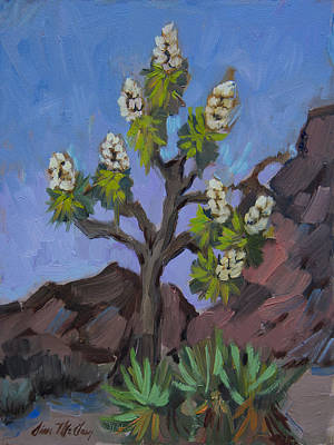 Painting - Joshua Tree In Bloom by Diane McClary