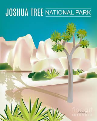 Desert Digital Art - Joshua Tree National Park Vertical Scene by Karen Young