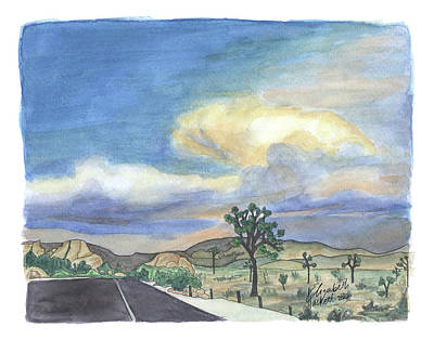 Painting - Joshua Tree Storm by Betsy Hackett