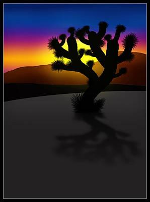 Desert Sunset Digital Art - Joshua Tree Sunset by Gravityx9 Designs