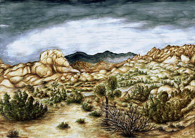 Painting - California Desert Landscape - Watercolor Art by Peter Potter