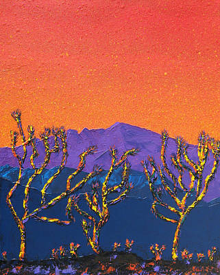 Joshua Trees Art Print by Mayhem Mediums