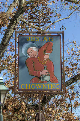 Stein Photograph - Josiah Chowning Sign by Teresa Mucha