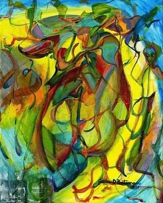 Painting - Josie's Pals by Jesse Bateman