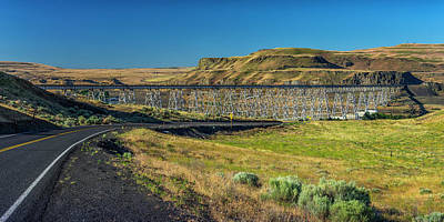 Photograph - Joso High Bridge Over The Snake River Wa 1x2 Ratio Dsc043632415 by Greg Kluempers