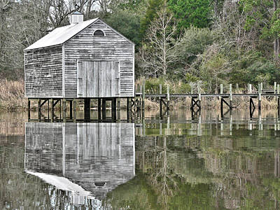 Photograph - Jourdan River Boathouse by Kathy K McClellan