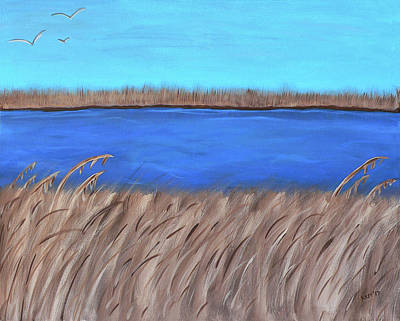 Painting - Jourdan River Marsh by Kathy K McClellan