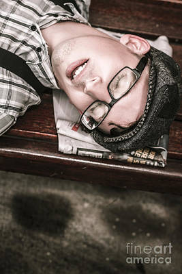 Journalist Asleep On The Job Art Print by Jorgo Photography - Wall Art Gallery