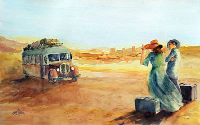 Painting - Journey At The Disert... by Faruk Koksal