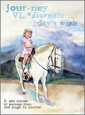 Journey Art Print by Janice Crow