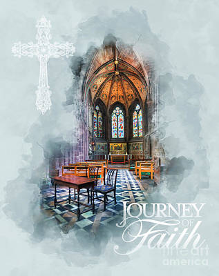 God Mixed Media - Journey Of Faith by Ian Mitchell