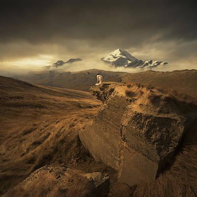 Snow Landscape Digital Art - Journey Of One by Michal Karcz