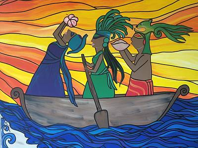 Mayan Painting - Journey Of The Ancestors by Autumn La Boheme