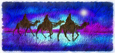 Digital Art - Journey Of The Three Wise Men by Mario Carini