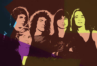Mixed Media - Journey Rock Band Pop Art by Dan Sproul