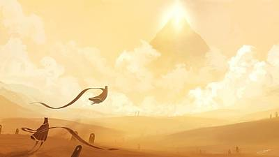 Sunset Digital Art - Journey by Super Lovely
