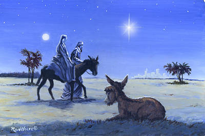 Painting - Journey To Bethlehem by Richard De Wolfe