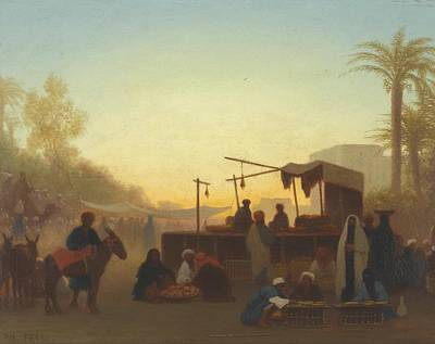 Orientalist Painting - Journey To Cairo by Charles Theodore Frere